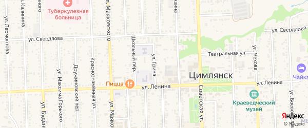 Улица Александра Грина на карте Цимлянска с номерами домов