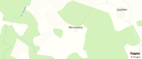 Карта деревни Митянино (Корцовская с/а) в Костромской области с улицами и номерами домов