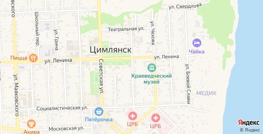 Газетный переулок в Цимлянске с номерами домов на карте. Спутник и схема онлайн