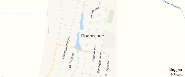 Карта Подлесного села в Ставропольском крае с улицами и номерами домов
