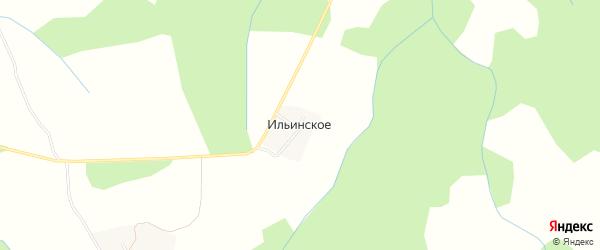 Карта деревни Ильинского в Костромской области с улицами и номерами домов