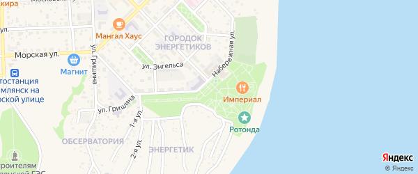 Площадь Победы на карте Цимлянска с номерами домов