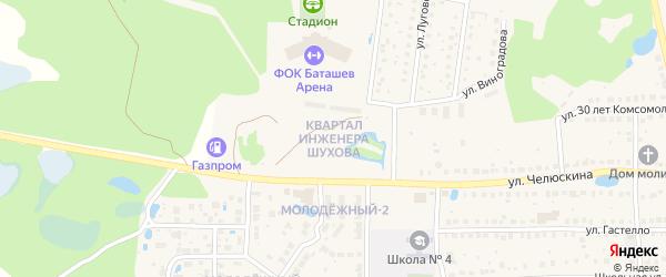 Квартал инженера Шухова на карте Выксы с номерами домов