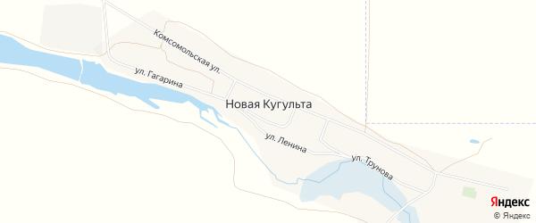 Карта села Новой Кугульты в Ставропольском крае с улицами и номерами домов