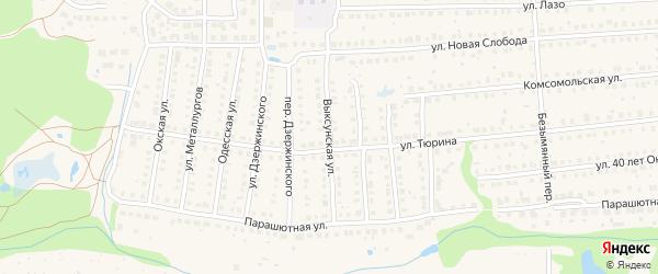 Выксунская улица на карте Выксы с номерами домов