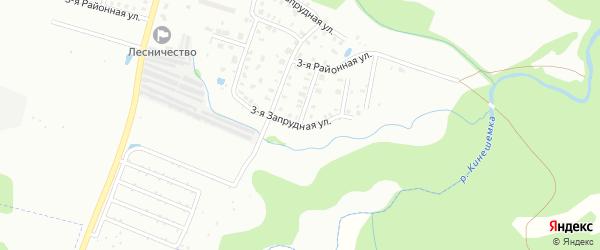 3-я Запрудная улица на карте Кинешмы с номерами домов