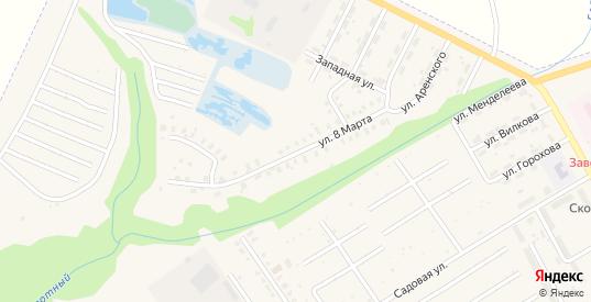 Улица 8 Марта в Заволжске с номерами домов на карте. Спутник и схема онлайн