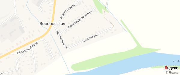 Светлая улица на карте Вороновской деревни с номерами домов