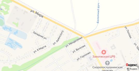 Улица Зинина в Заволжске с номерами домов на карте. Спутник и схема онлайн