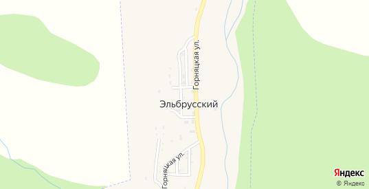 Горняцкая улица в поселке Эльбрусский в Карачаевске с номерами домов на карте. Спутник и схема онлайн