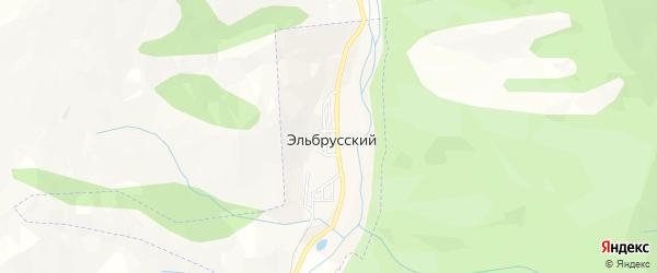 Карта Эльбрусского поселка города Карачаевска в Карачаево-Черкесии с улицами и номерами домов