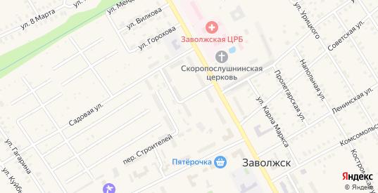 Улица Строителей в Заволжске с номерами домов на карте. Спутник и схема онлайн