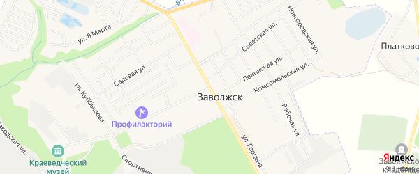 Территория ГСК Хлебозавод на карте Заволжска с номерами домов