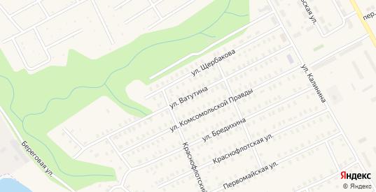 Улица Ватутина в Заволжске с номерами домов на карте. Спутник и схема онлайн