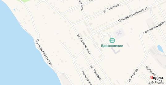 Улица Островского в Заволжске с номерами домов на карте. Спутник и схема онлайн