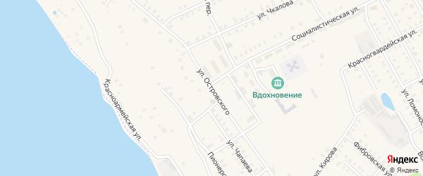 Улица Островского на карте Заволжска с номерами домов