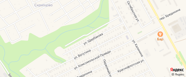Улица Щербакова на карте Заволжска с номерами домов
