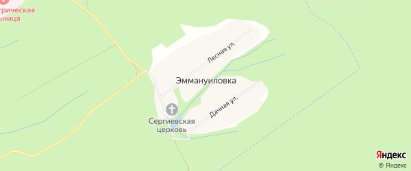 Карта села Эммануиловки в Рязанской области с улицами и номерами домов