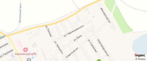 Улица Чернышевского на карте Заволжска с номерами домов