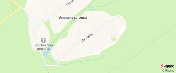 Дачная улица на карте села Эммануиловки Рязанской области с номерами домов