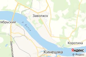 Карта г. Заволжск Ивановская область