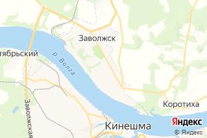 Карта г. Заволжск