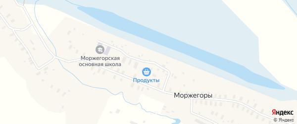 Молодежная улица на карте деревни Моржегоры Архангельской области с номерами домов