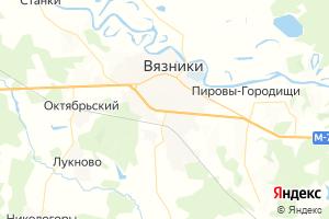 Карта г. Вязники Владимирская область
