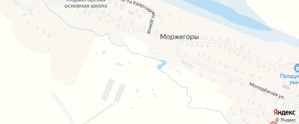 Юбилейная улица на карте деревни Моржегоры с номерами домов