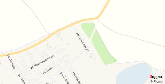 Миглинская улица в Заволжске с номерами домов на карте. Спутник и схема онлайн
