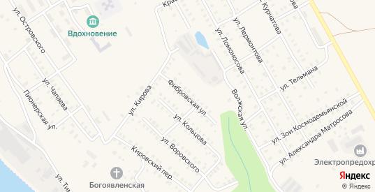 Фибровская улица в Заволжске с номерами домов на карте. Спутник и схема онлайн