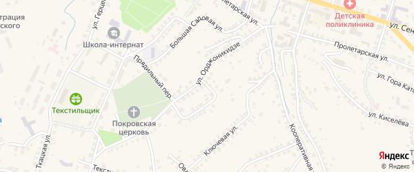 Ключевой переулок на карте Вязников с номерами домов