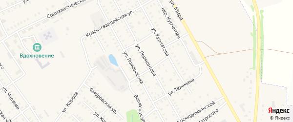 Улица Лермонтова на карте Заволжска с номерами домов