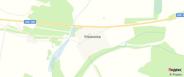 Карта деревни Ульяниха в Ивановской области с улицами и номерами домов