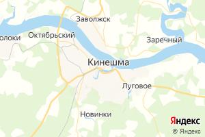Карта г. Кинешма Ивановская область