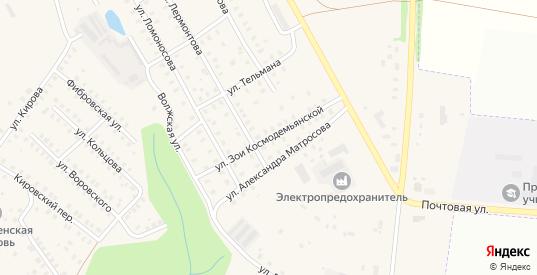 Улица Зои Космодемьянской в Заволжске с номерами домов на карте. Спутник и схема онлайн