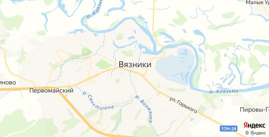 Карта Вязников с улицами и домами подробная. Показать со спутника номера домов онлайн