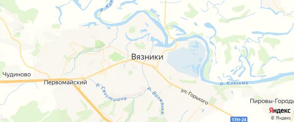 Карта Вязников с районами, улицами и номерами домов