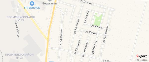 Улица Калинина на карте Выксы с номерами домов