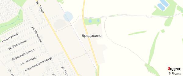 Карта села Бредихино в Ивановской области с улицами и номерами домов