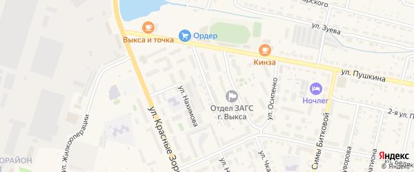 Стахановская улица на карте Выксы с номерами домов