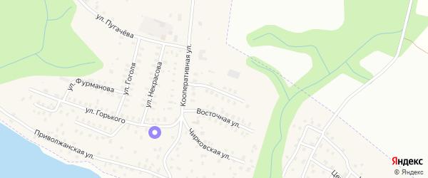 Кооперативный переулок на карте Заволжска с номерами домов