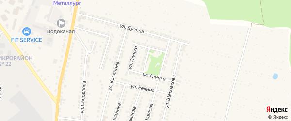 Переулок Глинки на карте Выксы с номерами домов