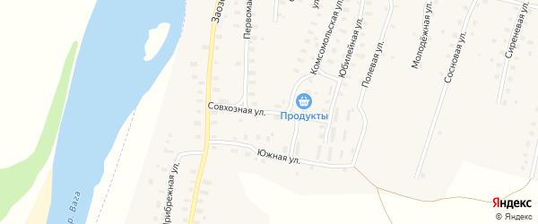 Совхозная улица на карте Аргуновского поселка с номерами домов