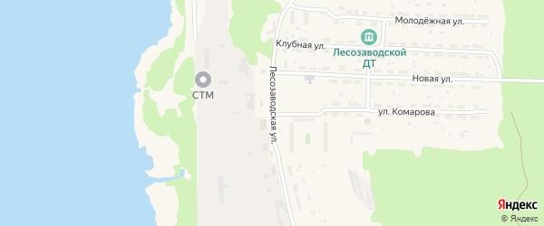 Лесозаводская улица на карте поселка Фирюсихи с номерами домов