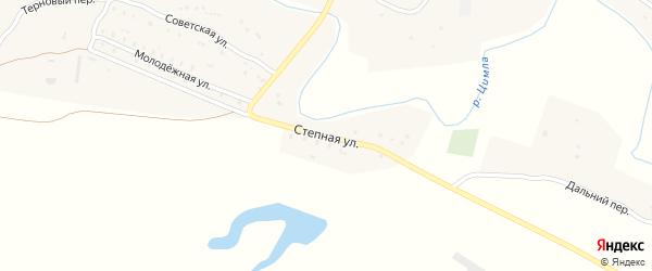 Степная улица на карте хутора Сиволобова Ростовской области с номерами домов
