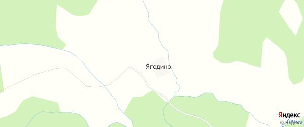 Карта деревни Ягодино в Костромской области с улицами и номерами домов