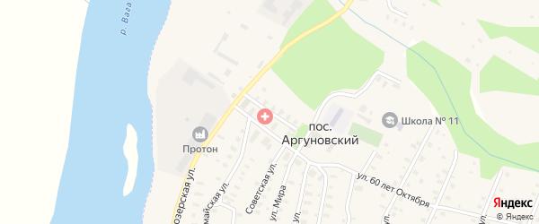 Парковая улица на карте Аргуновского поселка с номерами домов
