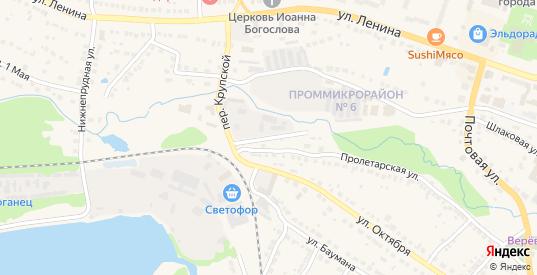 Крупской переулок в Выксе с номерами домов на карте. Спутник и схема онлайн