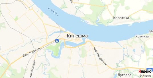 Карта Кинешмы с улицами и домами подробная. Показать со спутника номера домов онлайн